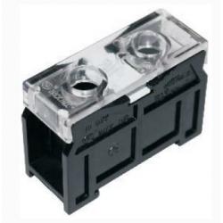 Колодка карболитовая на DIN-рейку 1П 90А 600В